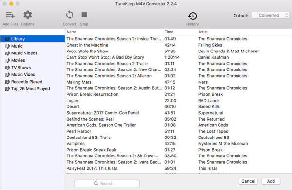 iTunes M4V Library