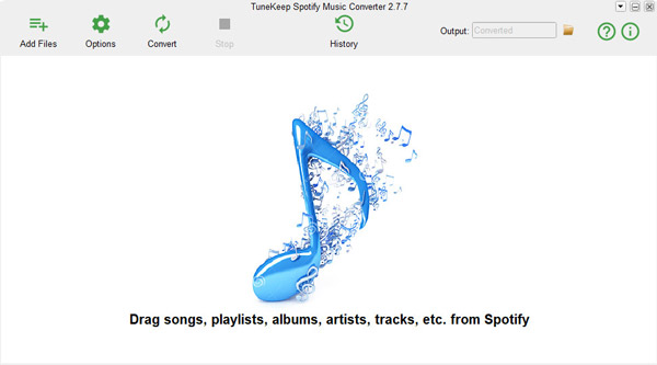 TuneKepp Spotify Music Converter interface